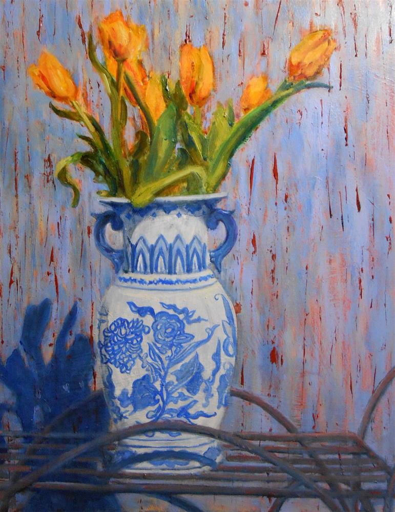 """Roy's Flowers"" original fine art by barbara yongue"
