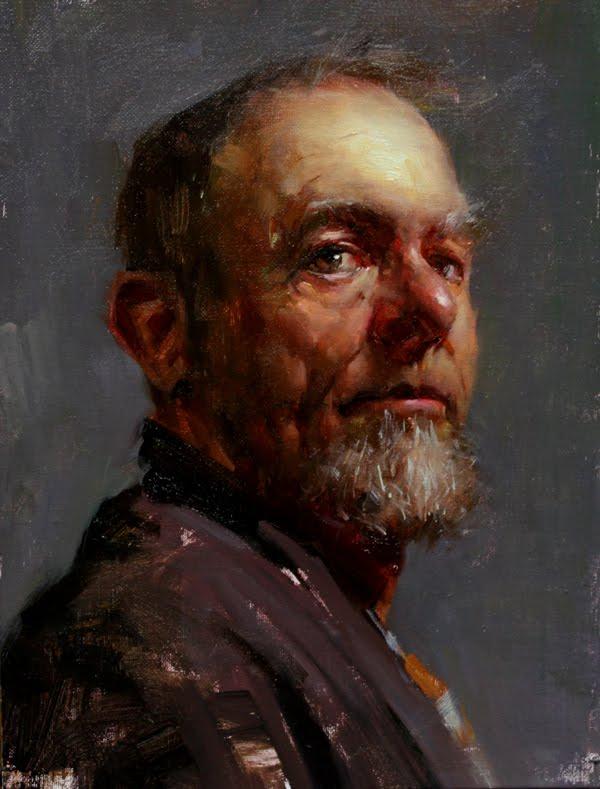"""""""Portrait of Richard - SOLD"""" original fine art by Fongwei Liu"""