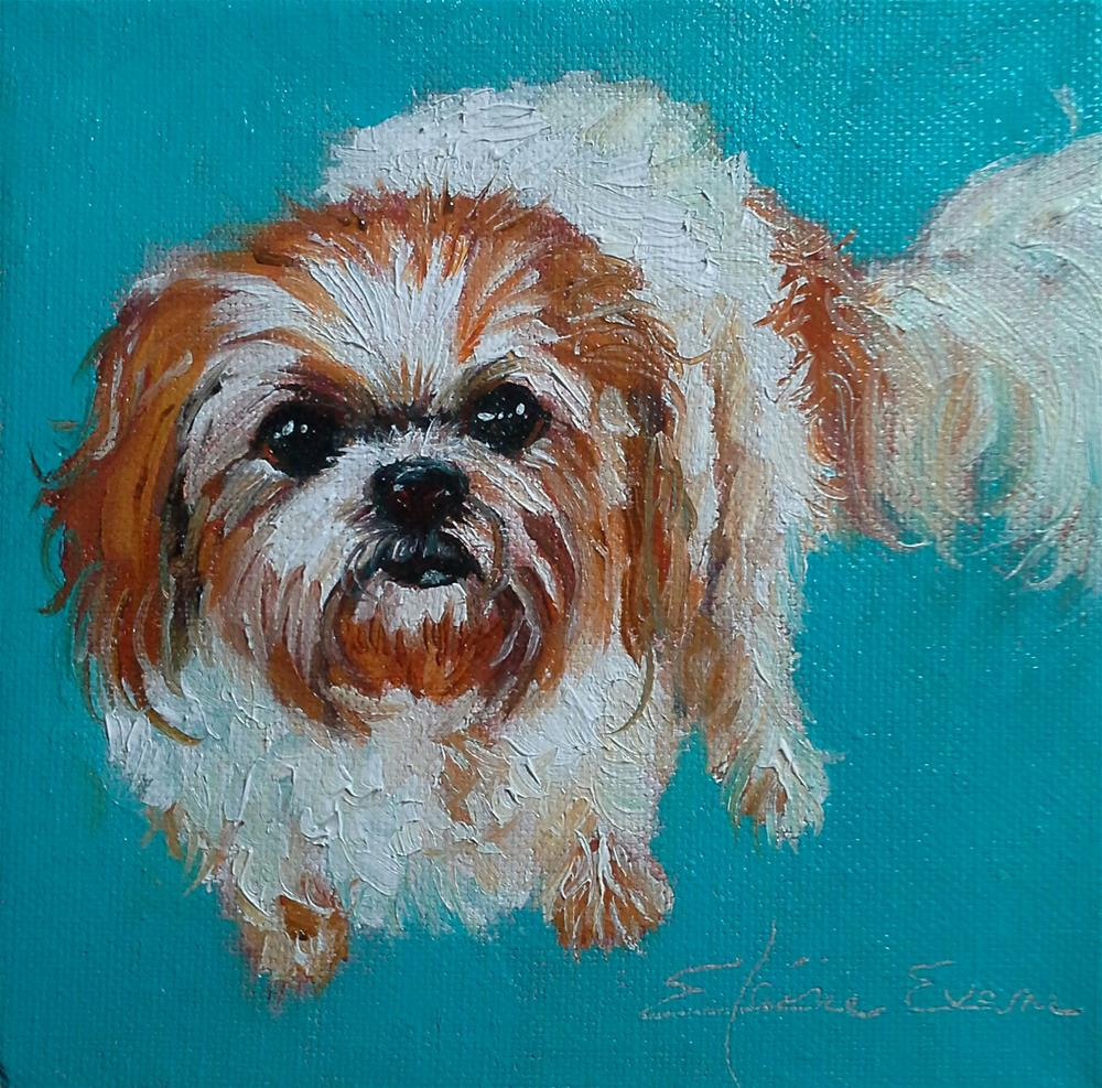 """Cute as a Button"" original fine art by Elaine Evans"