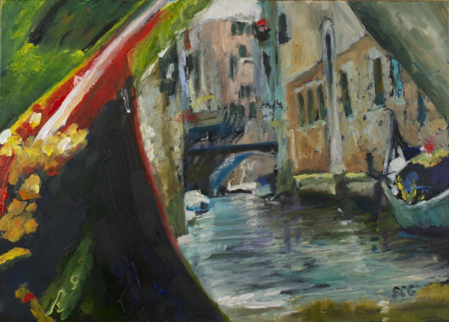"""Venice From my Gondola"" original fine art by Sue Churchgrant"