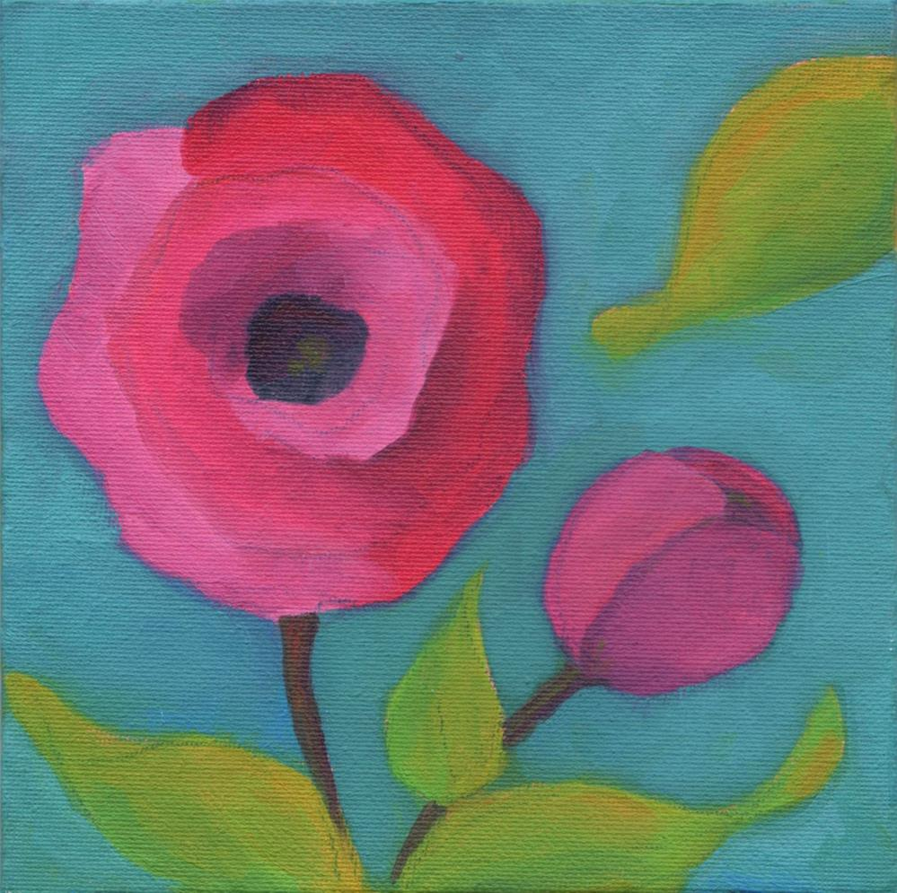 """Pink Poppy"" original fine art by Susan Bertocci"