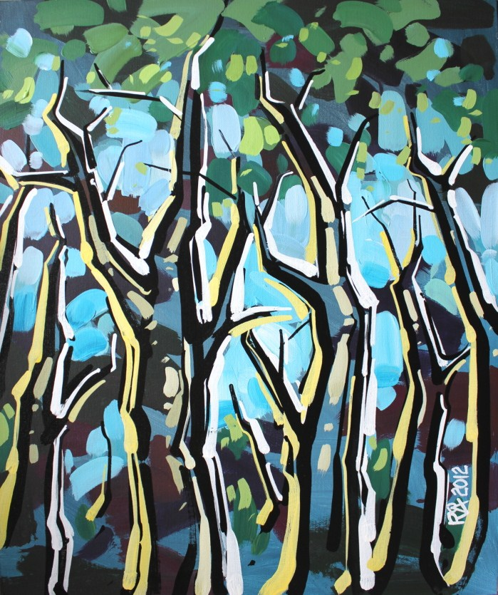 """Tree abstraction 18"" original fine art by Roger Akesson"
