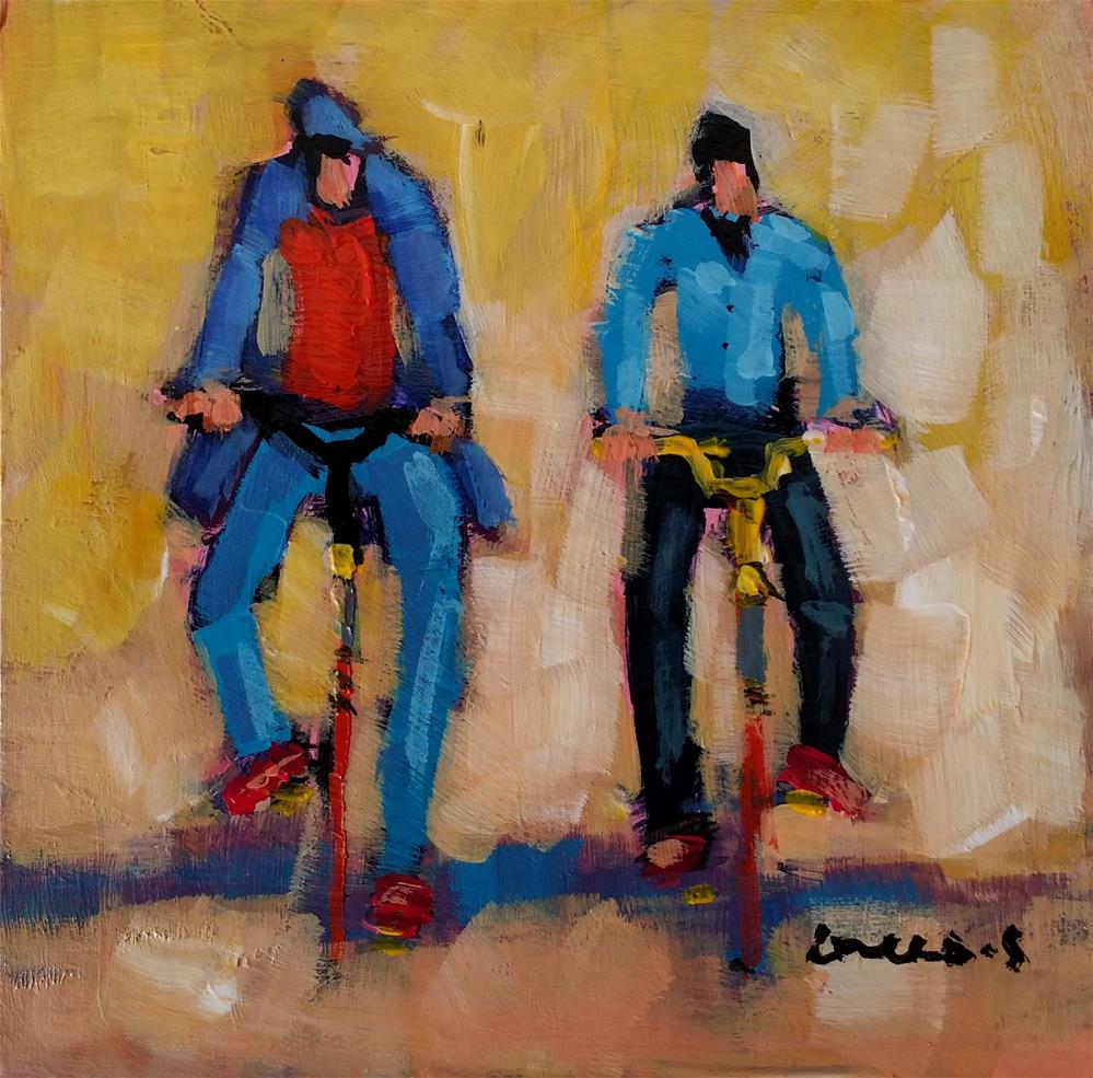 """bicycles #1"" original fine art by salvatore greco"