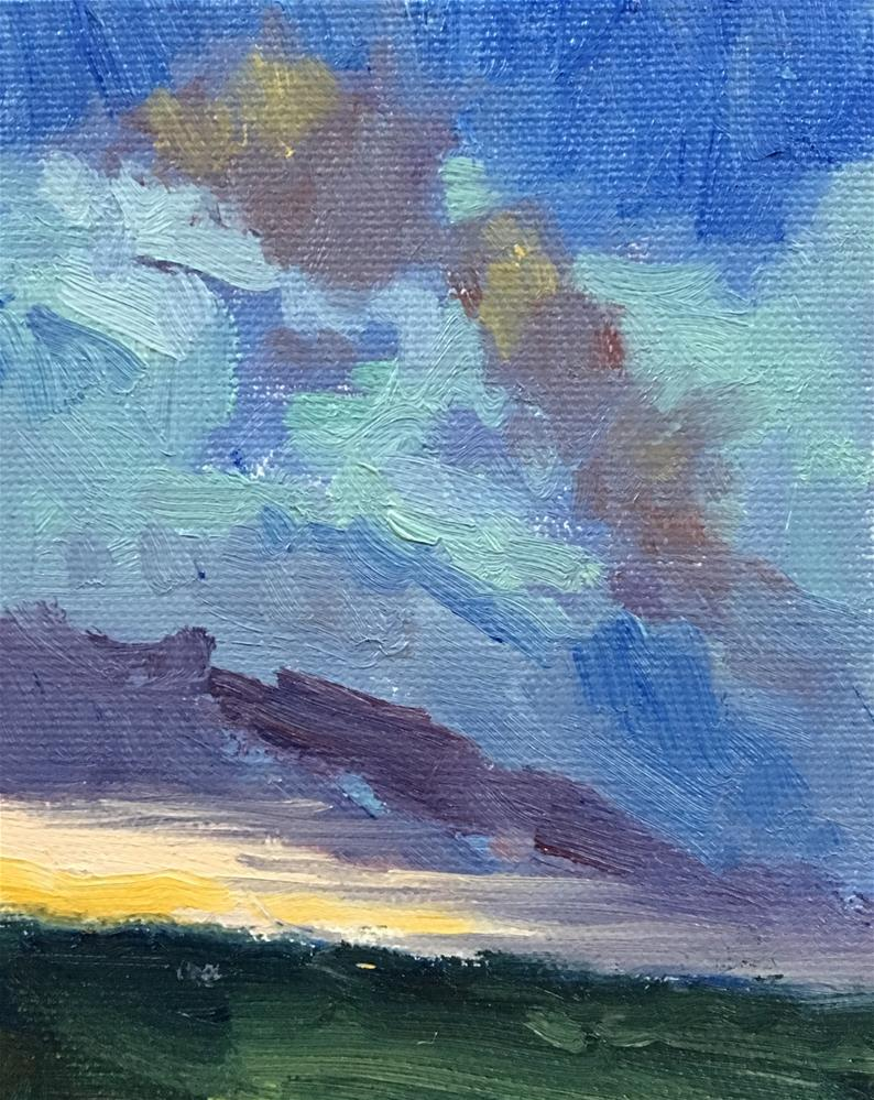"""""""#5 Ten Tiny Cloudscapes"""" original fine art by Victoria  Biedron"""