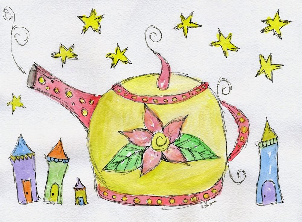 """Tea Time"" original fine art by Kali Parsons"