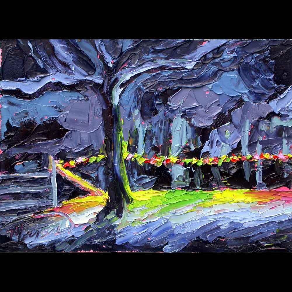 """070216 S 6x8 no1 Christmas Lights"" original fine art by Charlene Marsh"