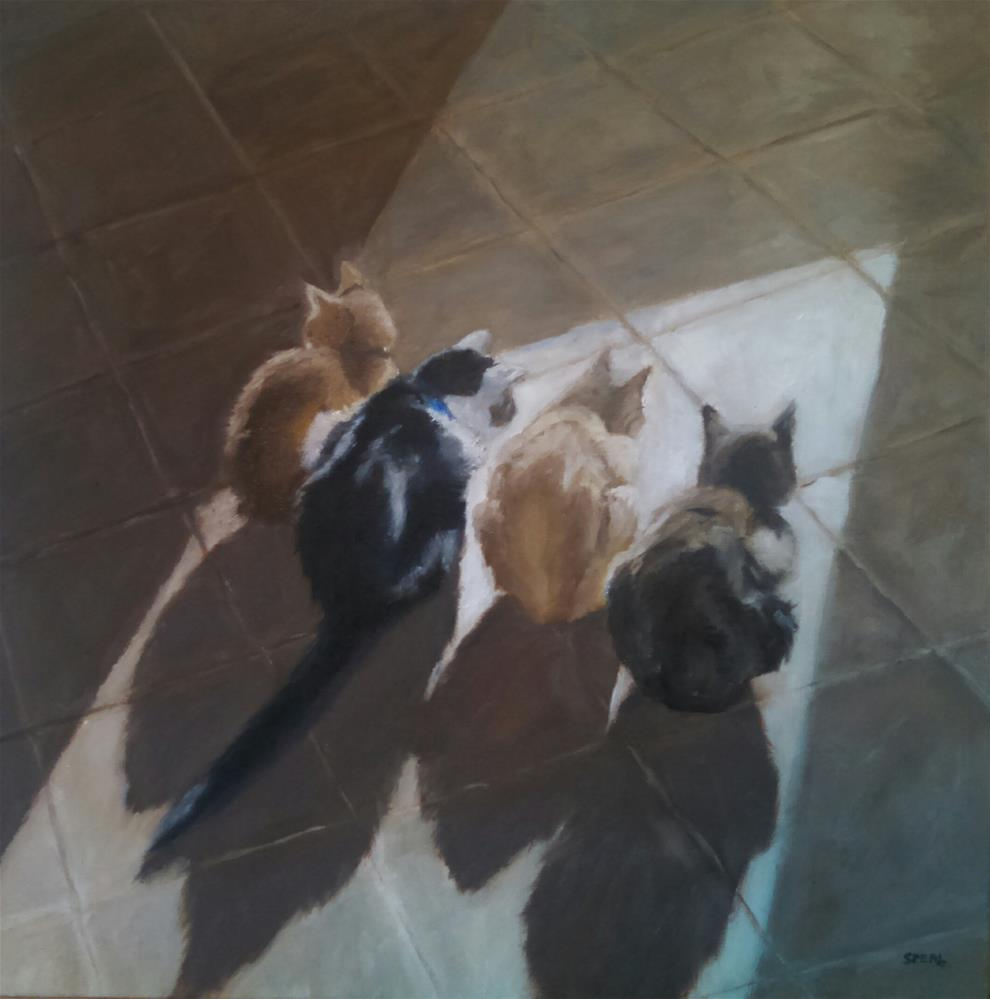"""Sun Bathers"" original fine art by Cheri Sperl"