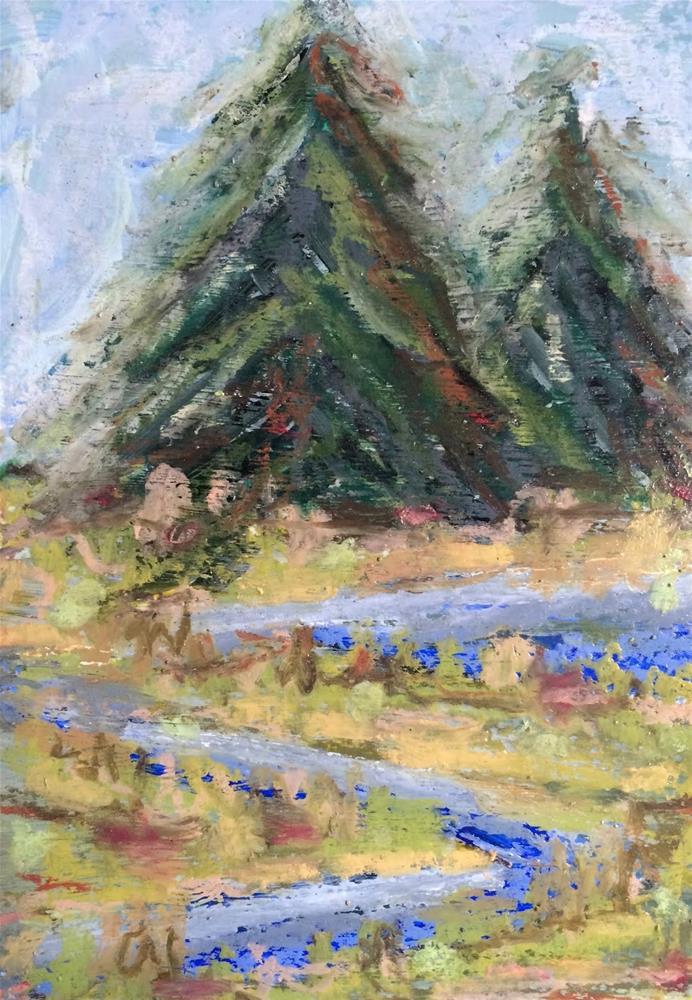 """""""Snake in the Grass"""" original fine art by Dotty  Seiter"""