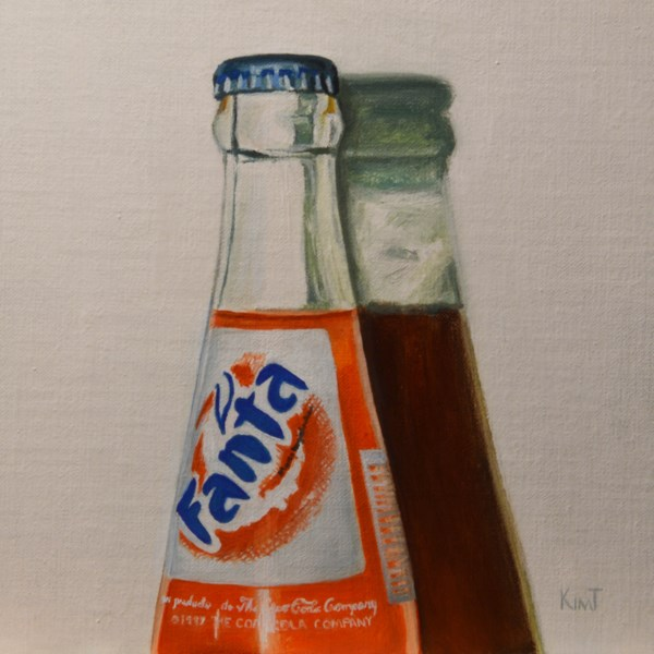 """Fanta Soda Bottle"" original fine art by Kim Testone"