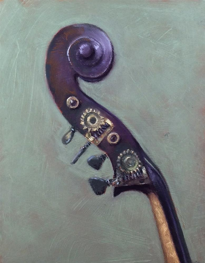 """Giovanni Battista Fabricatore Bass"" original fine art by Cristine Kossow"