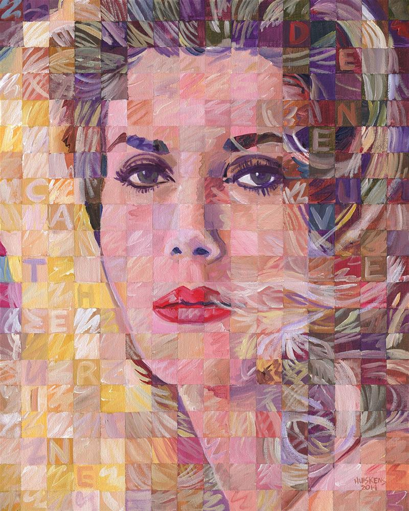 """Catherine Deneuve"" original fine art by Randal Huiskens"