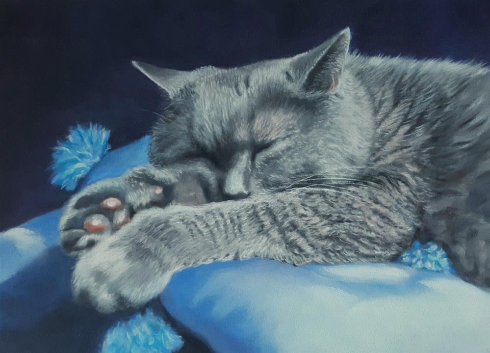 """Boo Sleeping"" original fine art by Heidi Rose"
