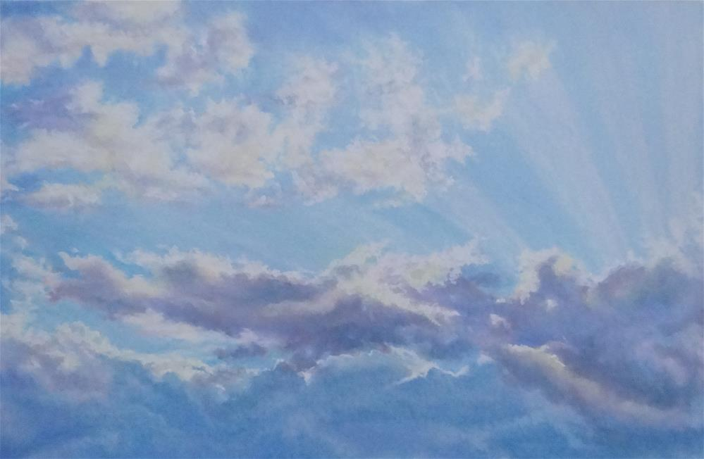 """Mary's Sky"" original fine art by Denise Beard"