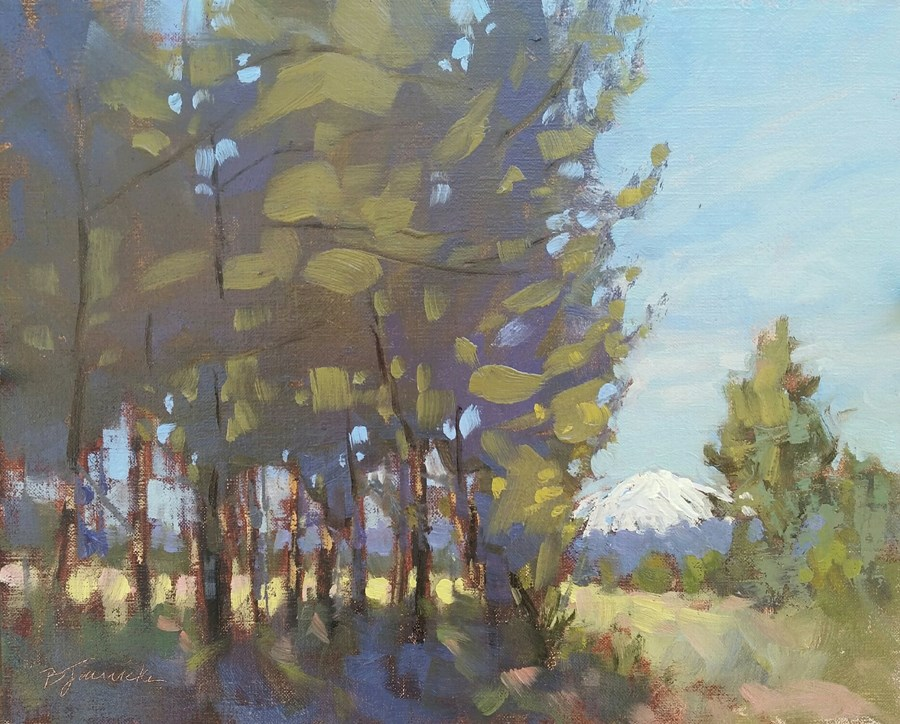 """Mt. Bachelor from Skyliners Rd."" original fine art by Barbara Jaenicke"