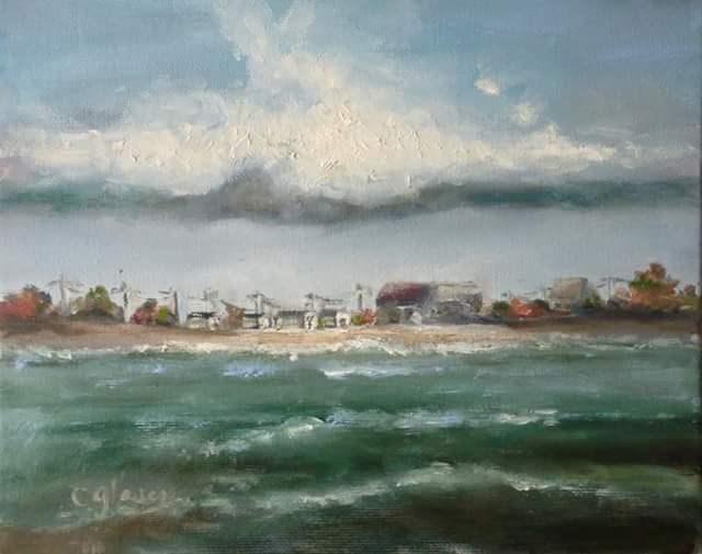 """near east beach"" original fine art by christina glaser"
