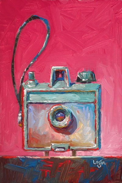 """Savoy Camera Straight On"" original fine art by Raymond Logan"