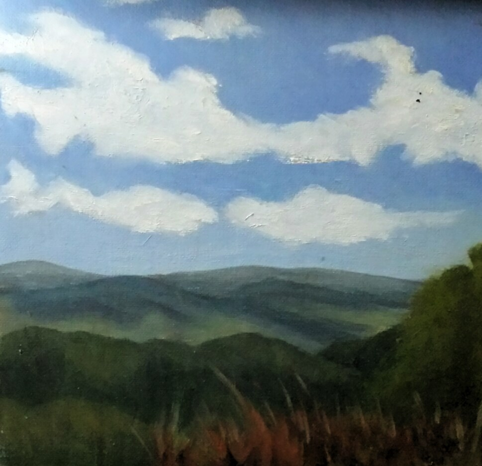 """APPALACHIAN LANDSCAPE"" original fine art by Tracy Wilkerson"