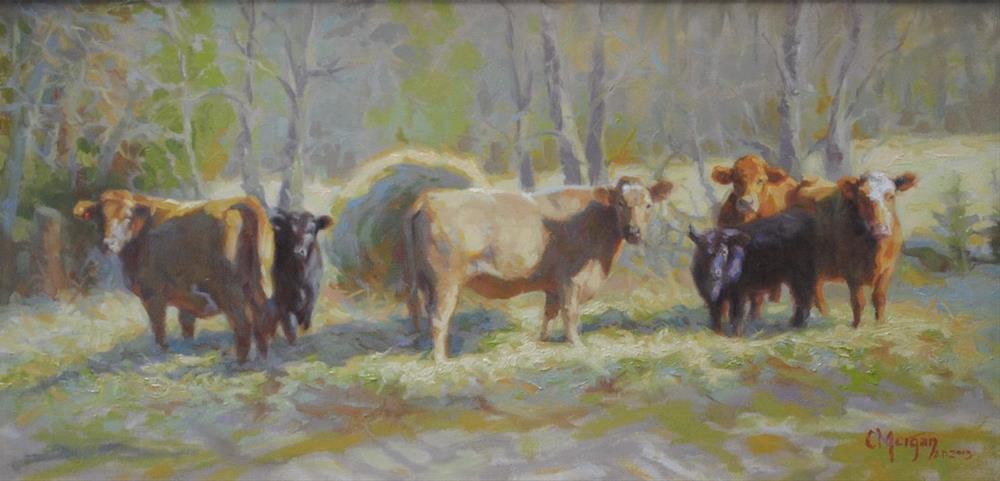 """""""The Last Load"""" original fine art by Cecile W. Morgan"""