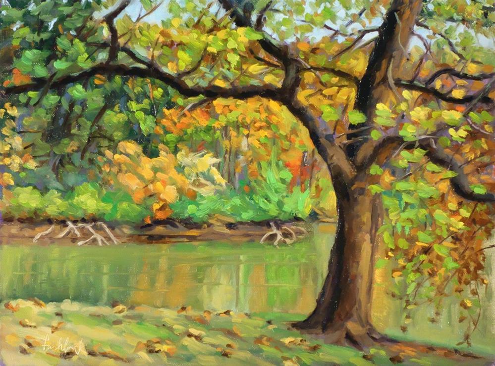 """Sunfish Pond"" original fine art by Daniel Fishback"