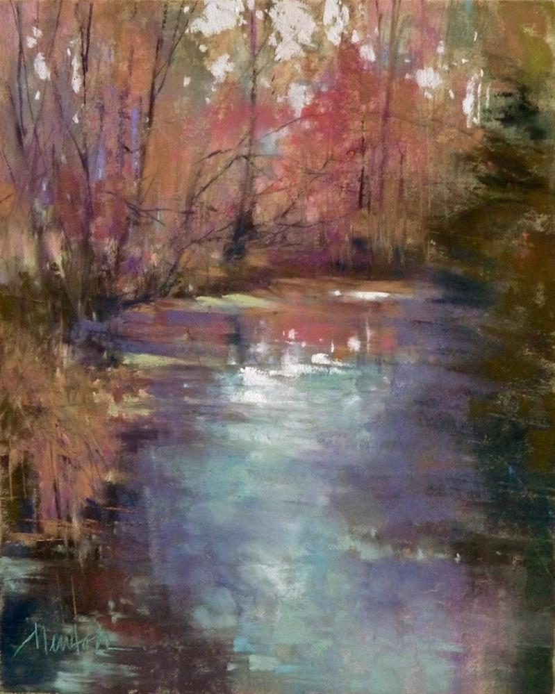 """Morning Creek"" original fine art by Barbara Benedetti Newton"