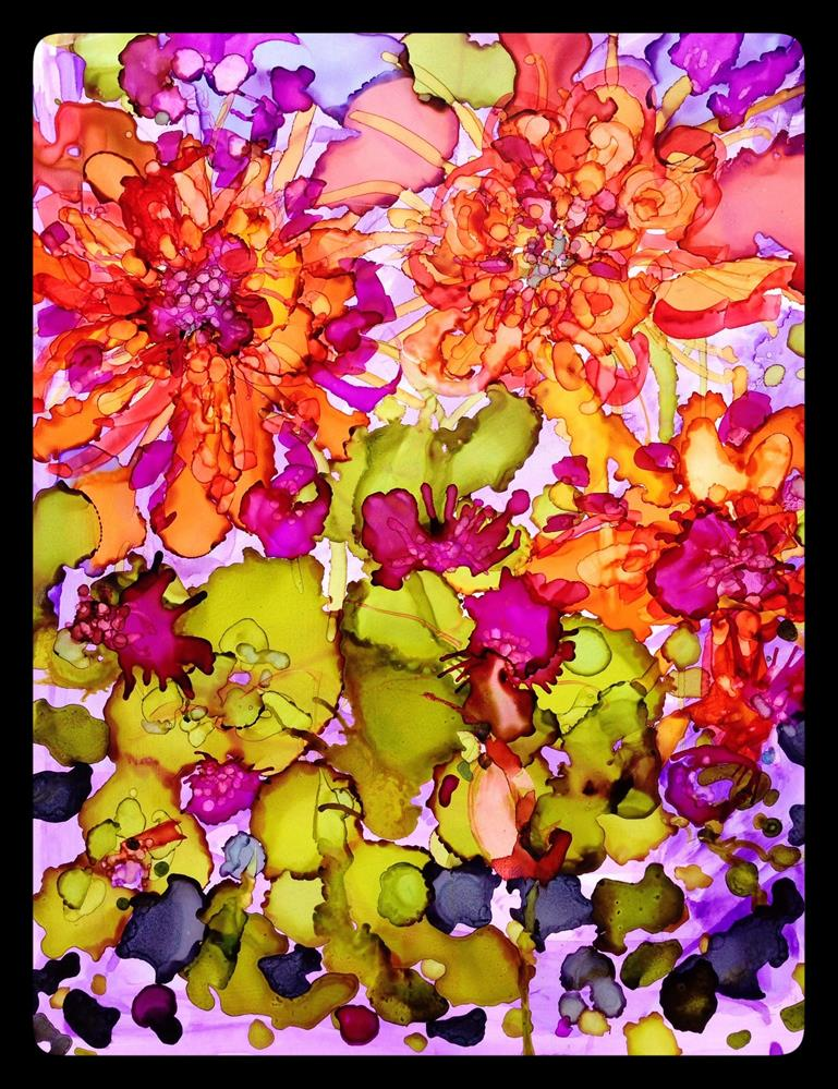 """Exploding Blossoms"" original fine art by Kelly Alge"