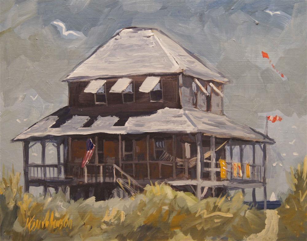 Beach Cottage 3 original fine art by Kevin Larson