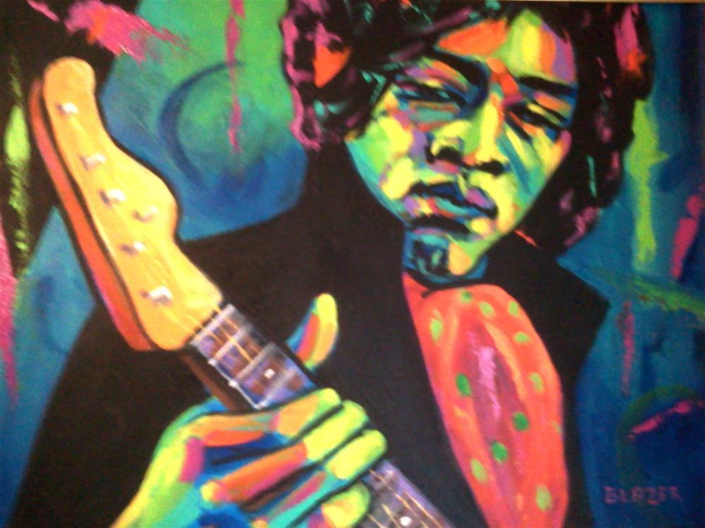 """Jimi Hendrix"" original fine art by Stuart Glazer"