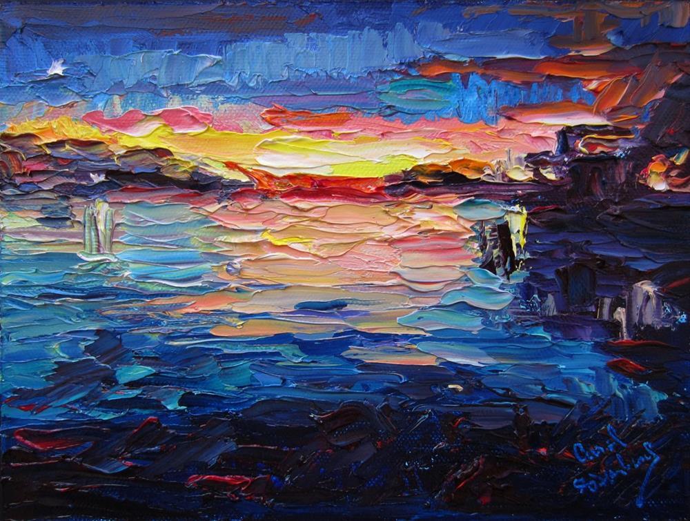 """Ocracoke Moon"" original fine art by Carol Steinberg"