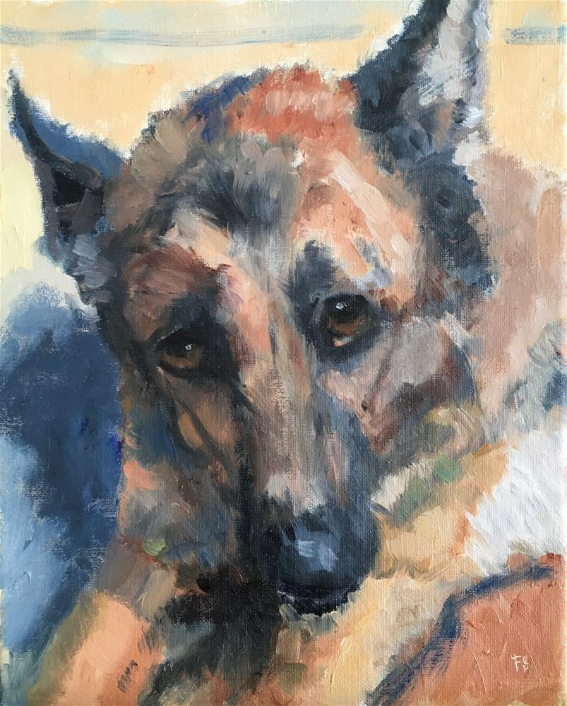 """165 Southside puppy"" original fine art by Fred Bell"