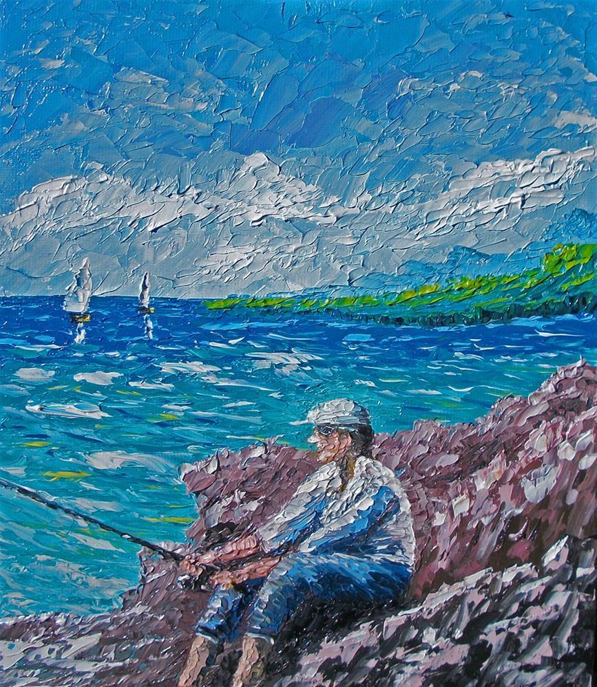 """""""Some Me Time"""" original fine art by Ken Fraser"""