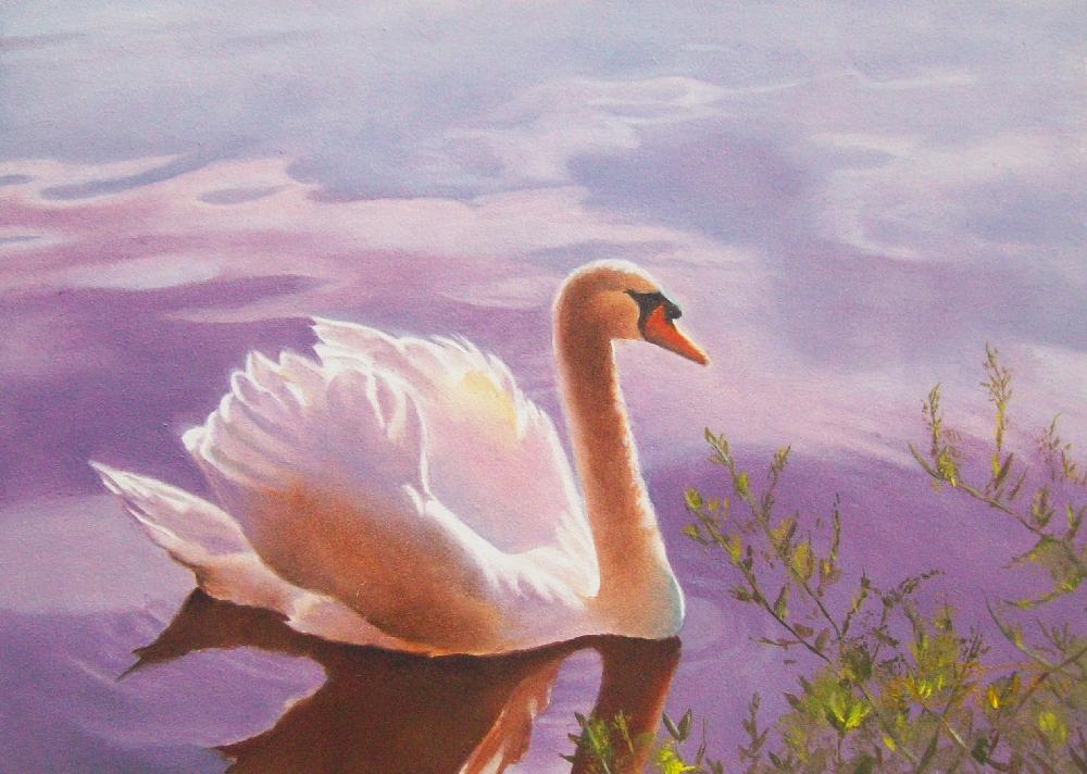 """Serenity"" original fine art by Jacqueline Gnott, whs"