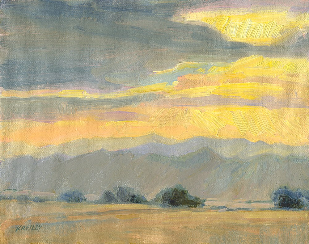 """Peschel Sunset"" original fine art by Kath Reilly"