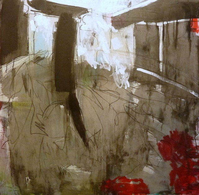 """Abstrakter Raum / abstract space"" original fine art by Mila Plaickner"