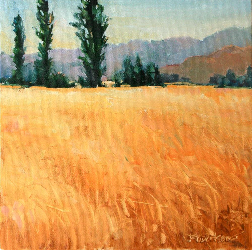 """Chile Cornfields"" original fine art by Jane Robertson"