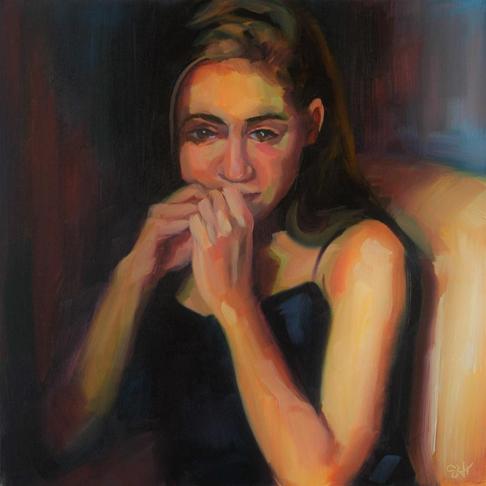 """Pensive"" original fine art by Janette Harter"