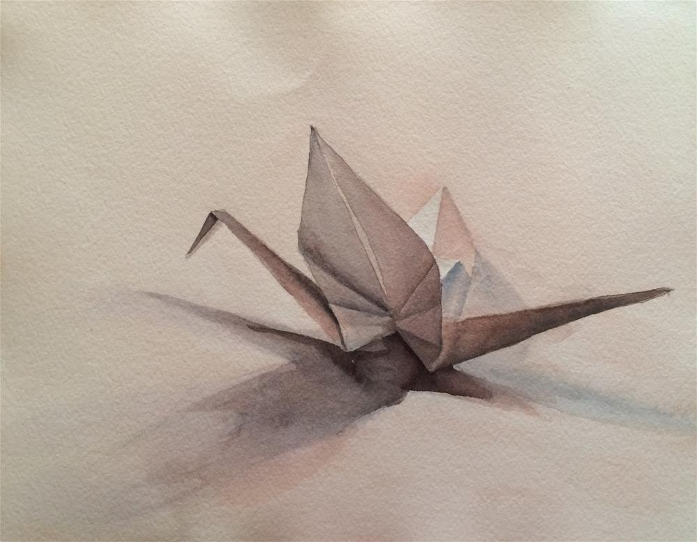 """""""Paper Crane"""" original fine art by Claudia Selene"""