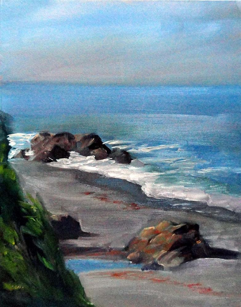 """Overlooking Black Sands Beach"" original fine art by Cietha Wilson"