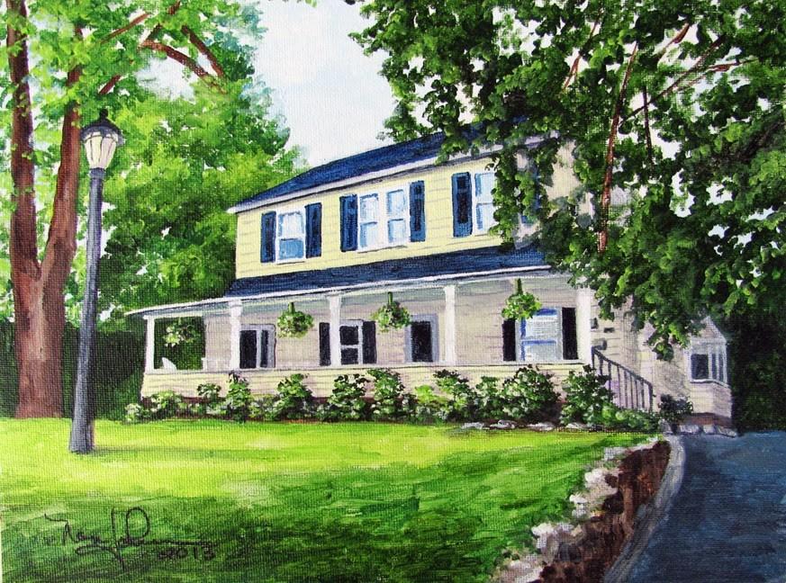 """Front Porch Ferns"" original fine art by Nan Johnson"