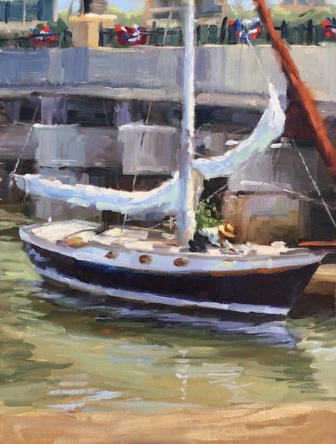 """""""Deck Work"""" original fine art by Karen Werner"""