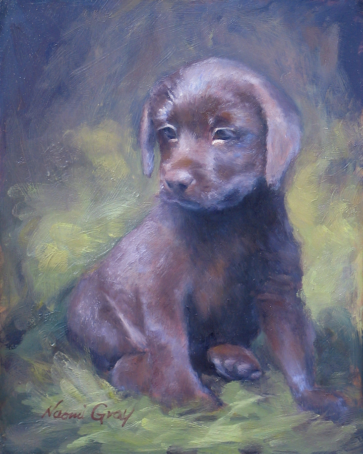 """Faith the Puppy"" original fine art by Naomi Gray"