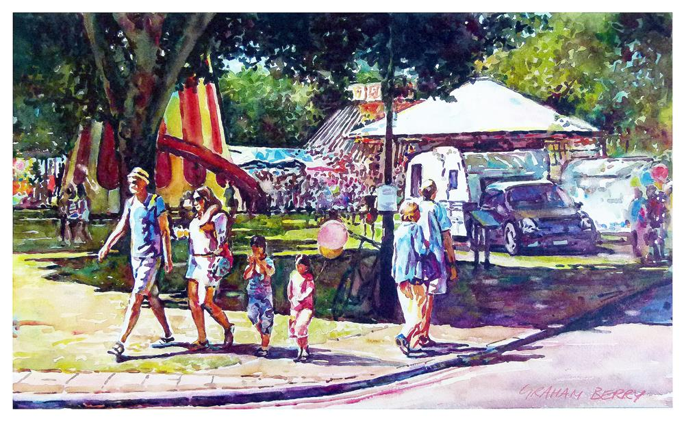 """Leaving the fair"" original fine art by Graham Berry"