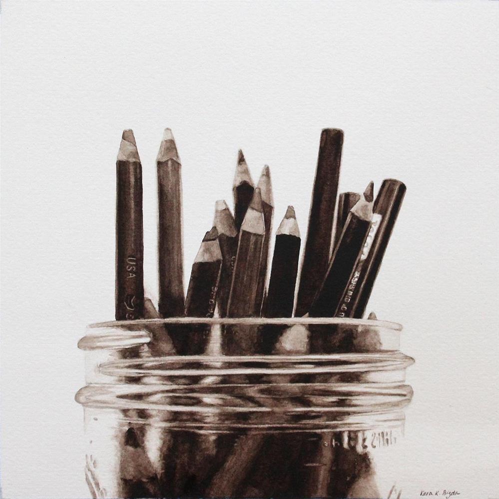 """Value #3"" original fine art by Kara K. Bigda"