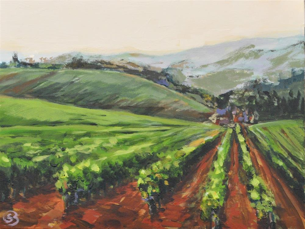 """Oregon Wine Country"" original fine art by Shari Buelt"