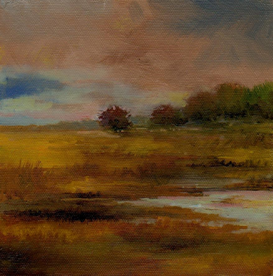 """rain"" original fine art by V. DeBak"