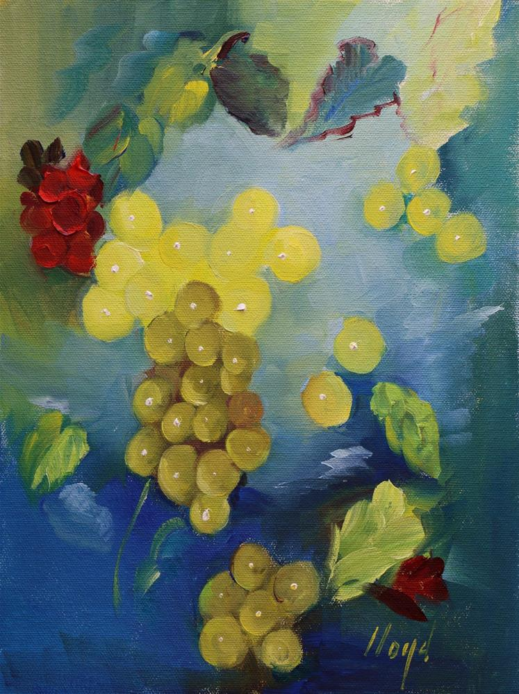 """Grape Fantasy"" original fine art by Diane Lloyd"