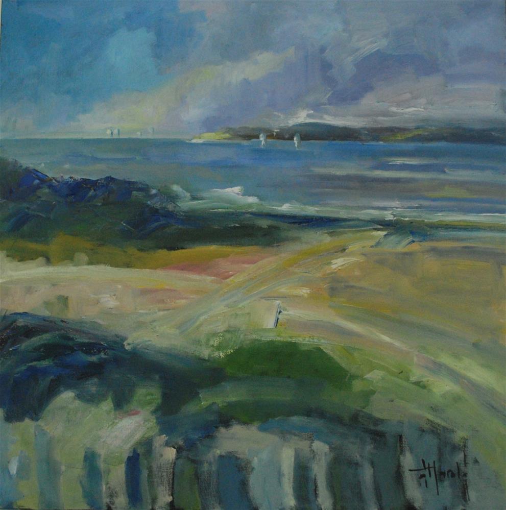 """Day At The Beach"" original fine art by Deborah Harold"