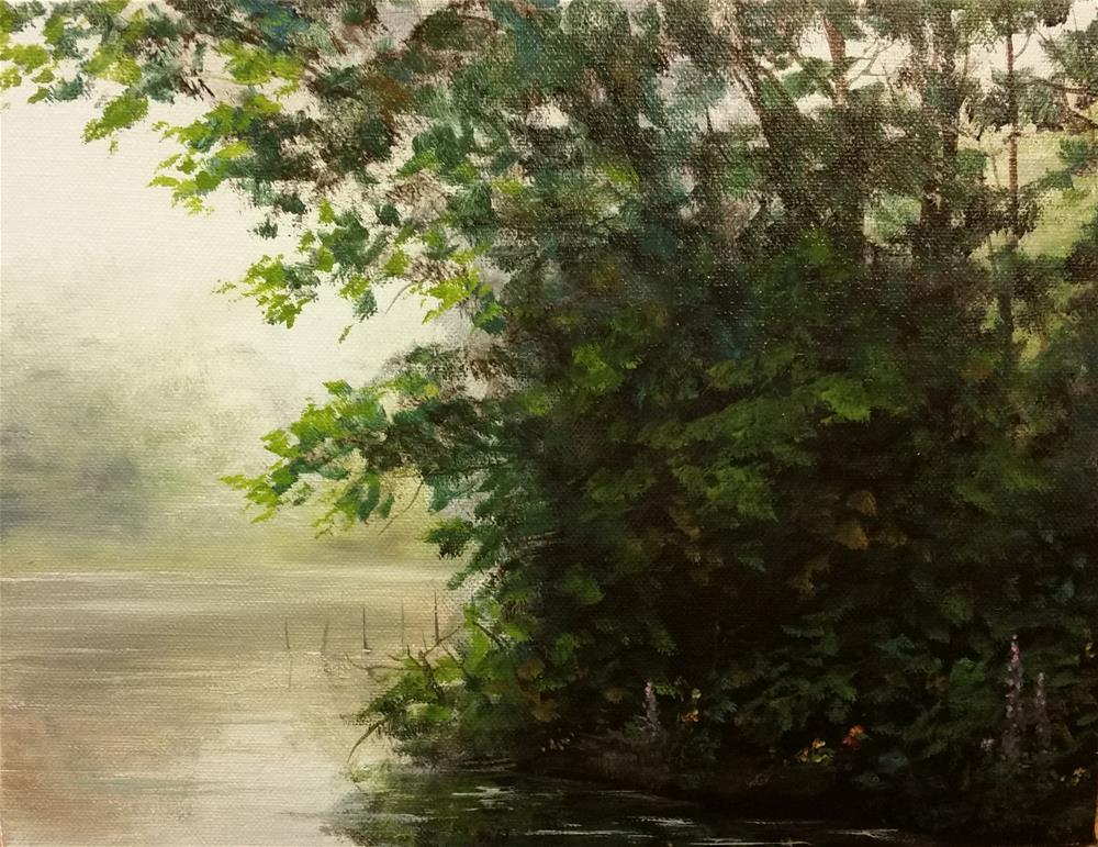"""Grove of Trees at the Pond, Independence, KY"" original fine art by Kim Vanlandingham"