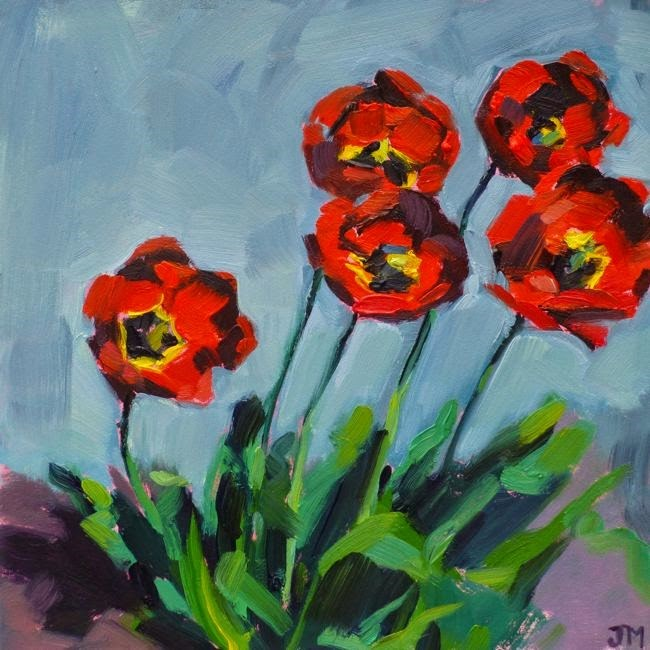 """Tulips"" original fine art by Jessica Miller"