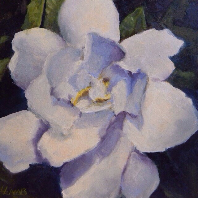 """Gardenia for Genevieve"" original fine art by Lori L. Lamb"