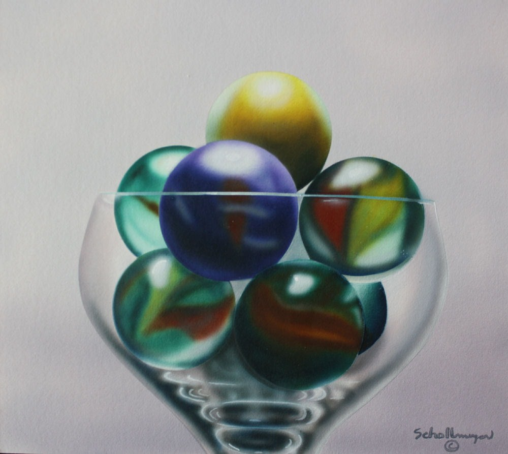 """Marbles # 10"" original fine art by Fred Schollmeyer"